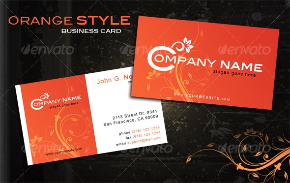 Orange style business card - Creative Business Cards
