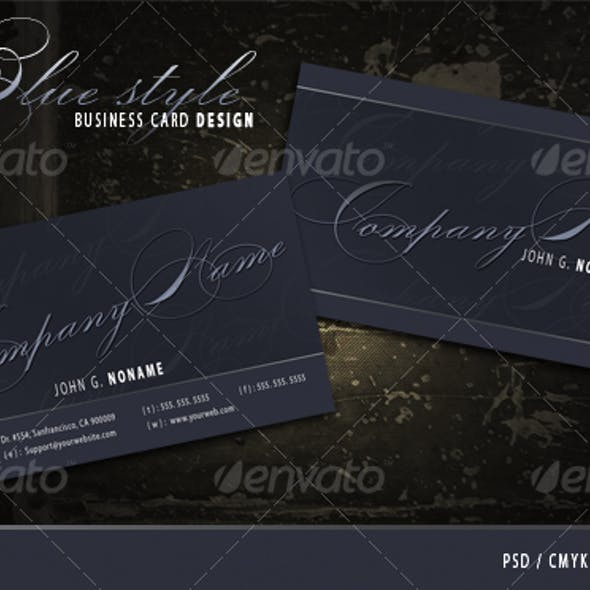 Blue style business card