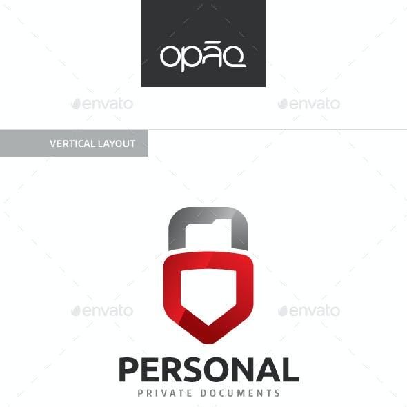 Personal Folder Padlock Logo