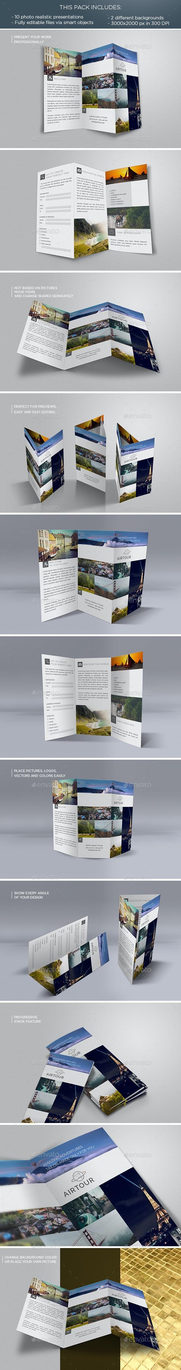 Tri-fold Flyer Mockup - Flyers Print
