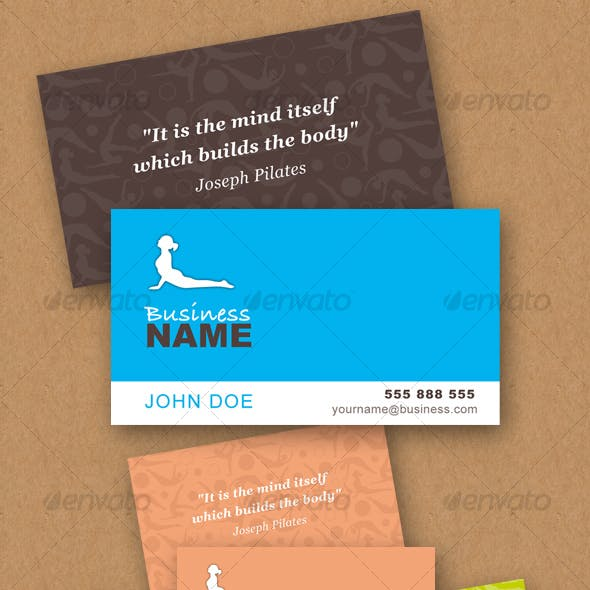 Pilates Vector business card