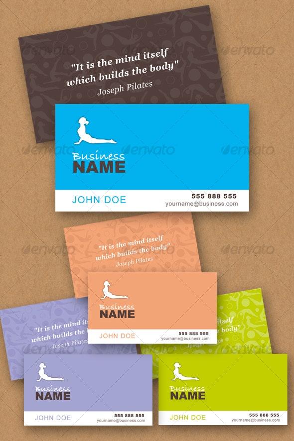 Pilates Vector business card - Business Conceptual