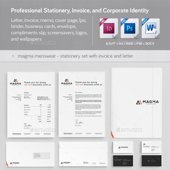 Professional Stationery, Invoice, and Corporate Identity