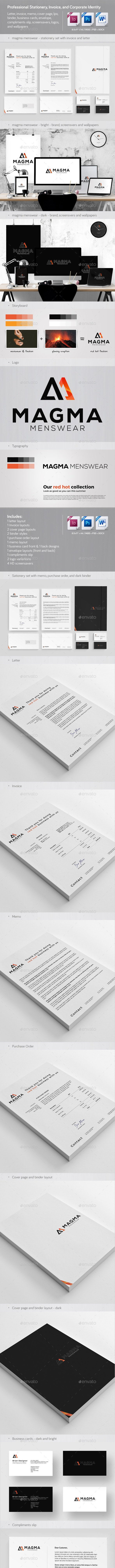 Professional Stationery, Invoice, and Corporate Identity - Stationery Print Templates