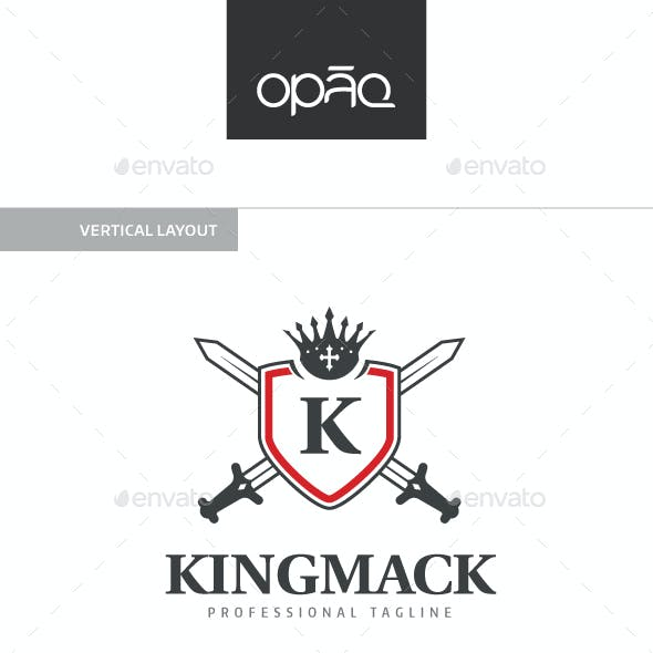 King Shield Editable Letter Logo