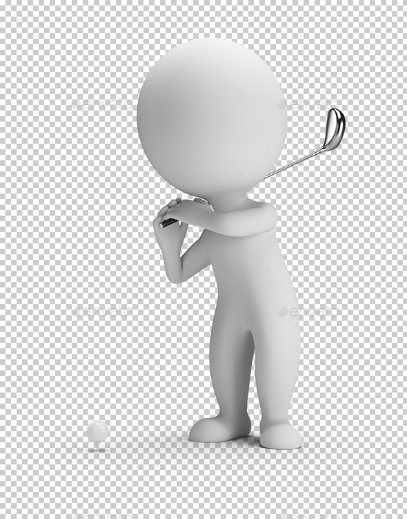 3D Small People - Golfing - Characters 3D Renders