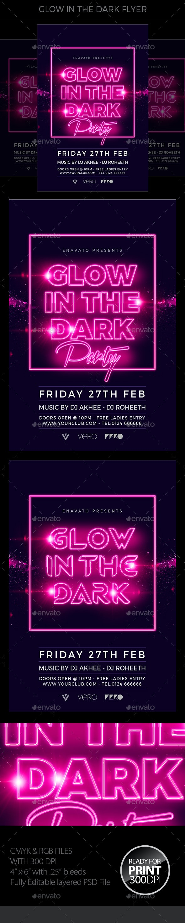 Glow In The Dark Flyer - Events Flyers