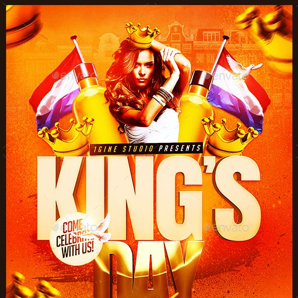 King's Day / KoningsDag Party Flyer Template