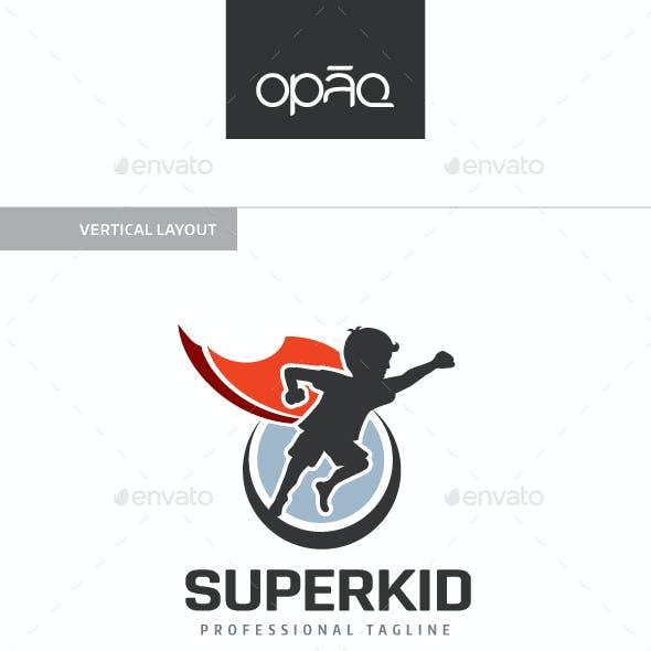 Super Kid Hero Logo