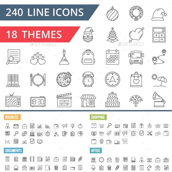 240 Line Icons