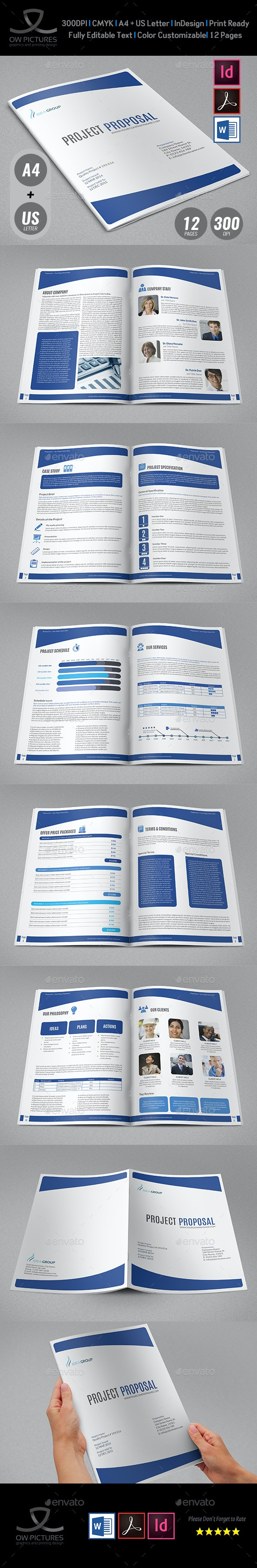 Company Proposal Template - 12 Pages - Proposals & Invoices Stationery