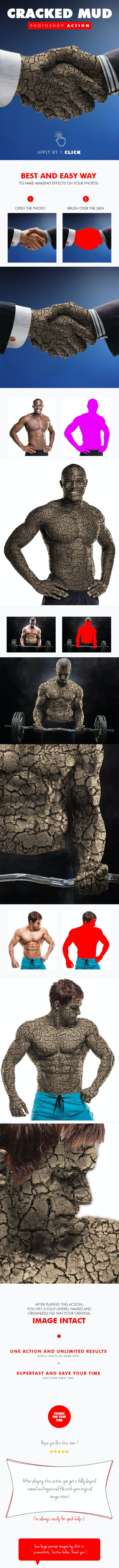 Cracked Mud Photoshop Action - Photo Effects Actions