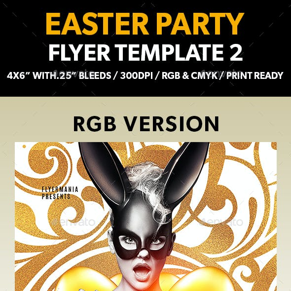 Easter Party Flyer Template 2