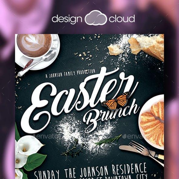 Easter Brunch Flyer Template