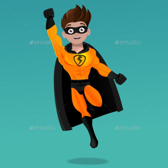 Superhero Flying with Mask - Miscellaneous Characters
