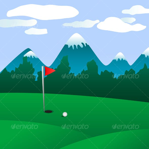 Golf field landscape