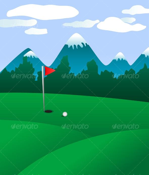 Golf field landscape - Sports/Activity Conceptual
