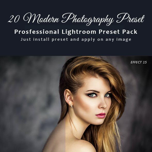 20 Modern Fashion Photography Preset