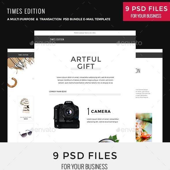 Times Bundle - Multi Purpose PSD Email Newsletter Template