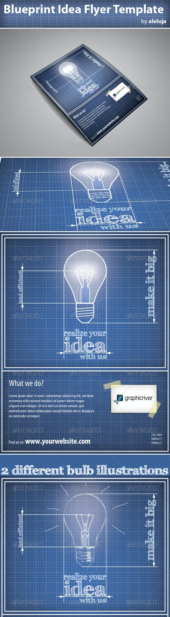 Blueprint Idea Flyer Template - Corporate Flyers