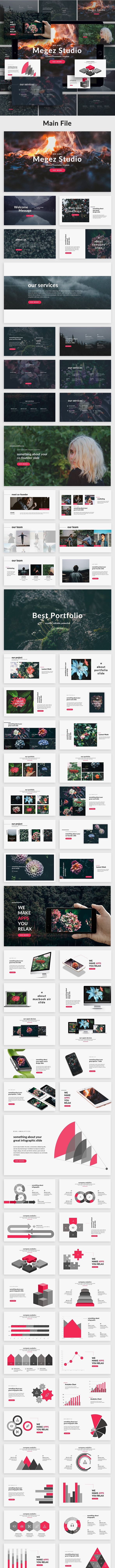Megez - Creative Google Slide Template - Google Slides Presentation Templates