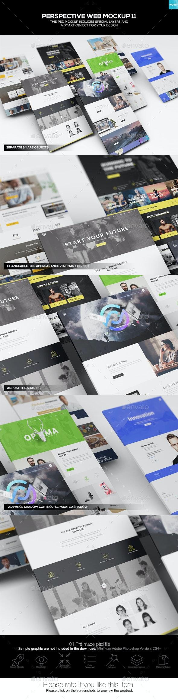 Perspective Web Mockup 11 - Website Displays