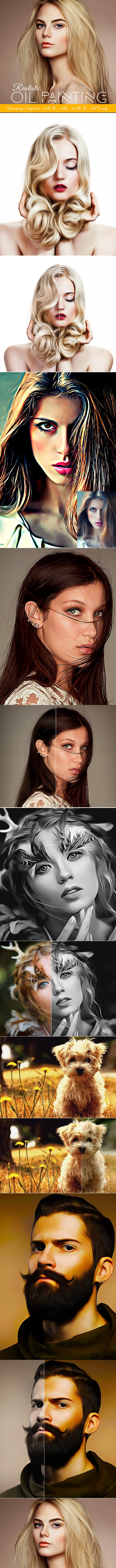 Realistic Oil Painting - Photo Effects Actions
