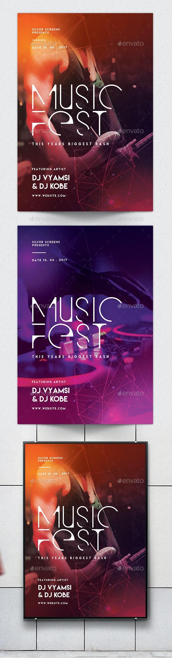 Music Fest Minimal Flyer - Events Flyers