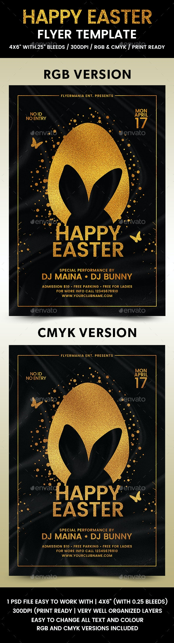 Happy Easter Flyer Template - Flyers Print Templates
