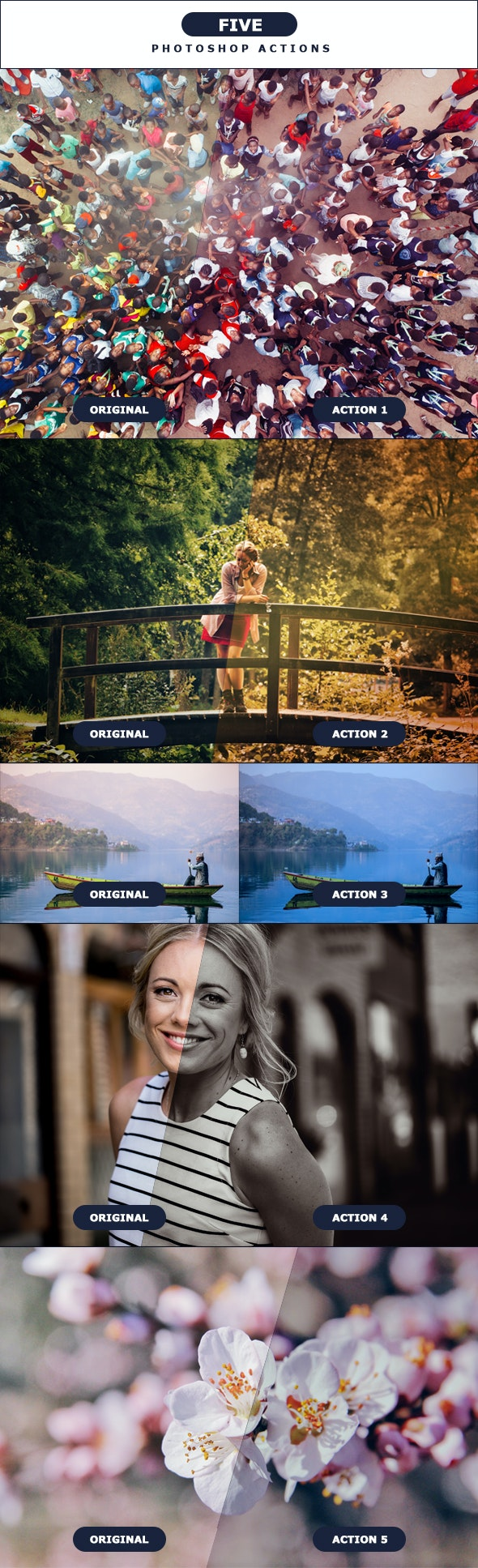 FIVE - Photoshop Actions 5 - Photo Effects Actions
