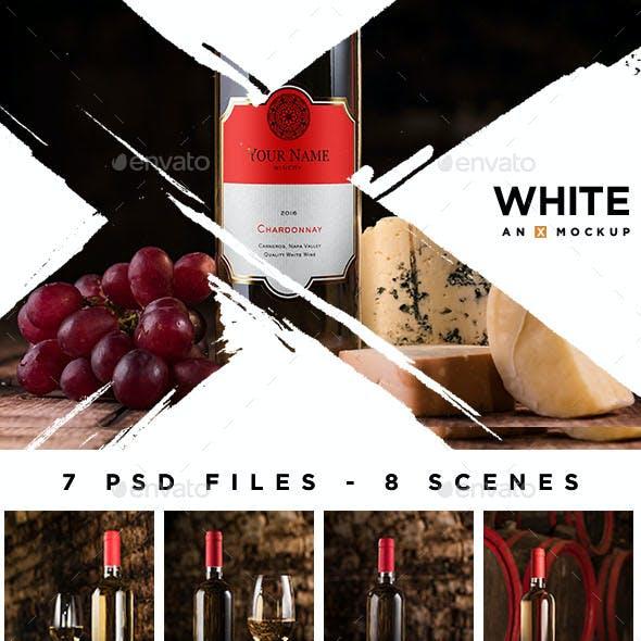 Cellar Wine Mockup - White Wine