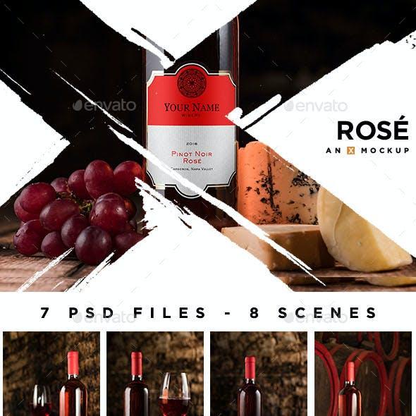Cellar Wine Mockup - Rose Wine