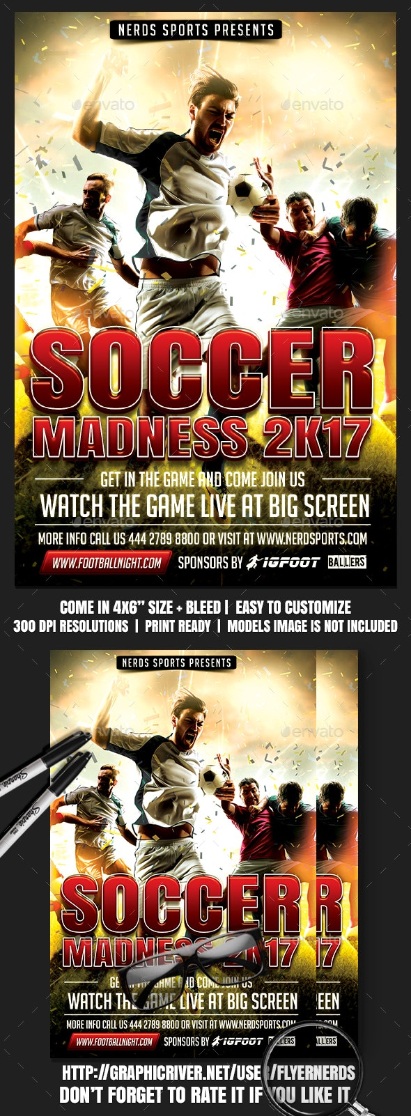 Soccer Sports Flyer - Sports Events