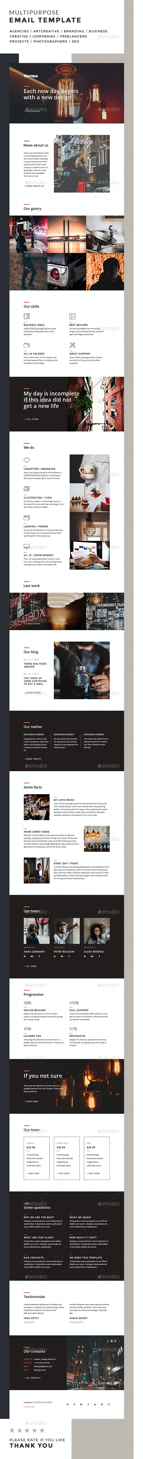 Norma / Multipurpose Email Template - E-newsletters Web Elements