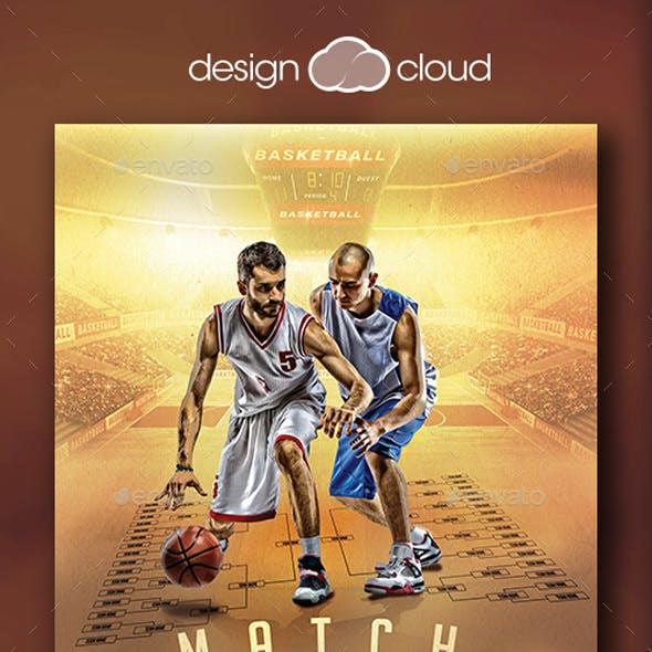 Match Madness Basketball Flyer Template