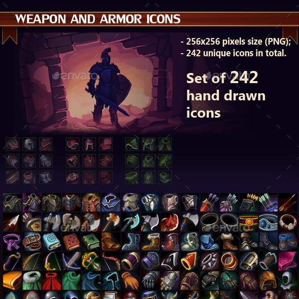 Weapon and Armor Icon Pack