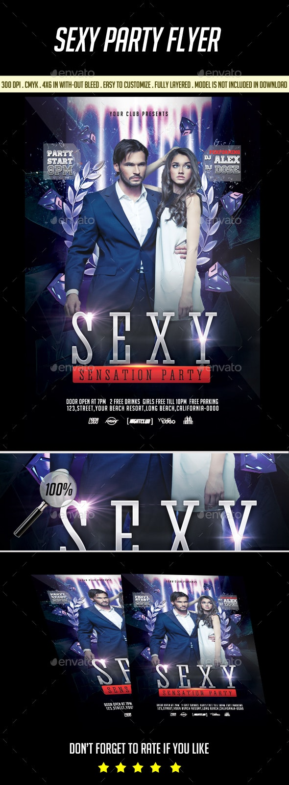 Sexy Sensetion Flyer - Clubs & Parties Events