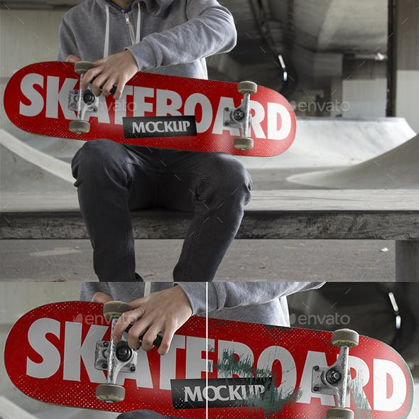 Skateboard Mockup V1 - PSD