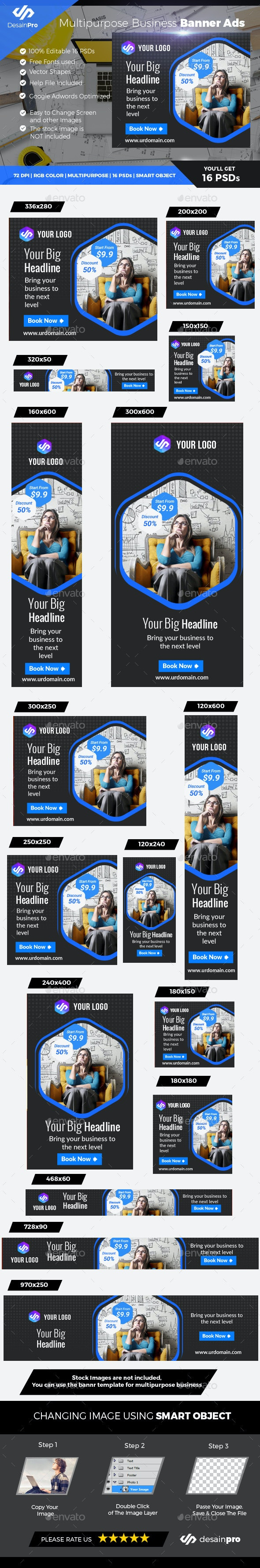 Corporate Banner Template - Banners & Ads Web Elements