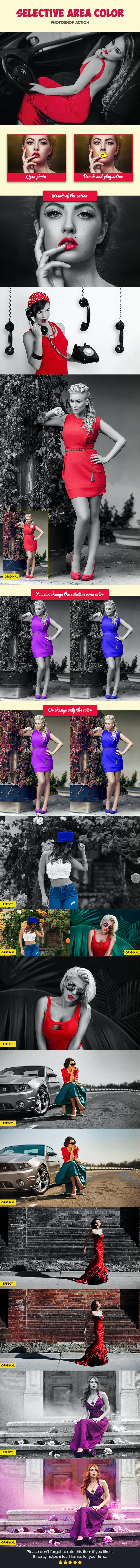 Selective Area Color V2 - Photo Effects Actions