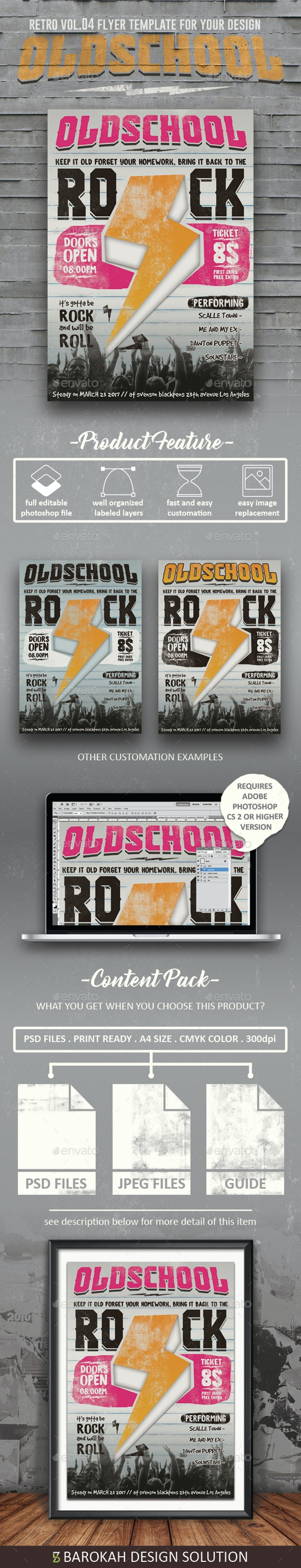 Retro vol.04 (Oldschool Rock) - Events Flyers
