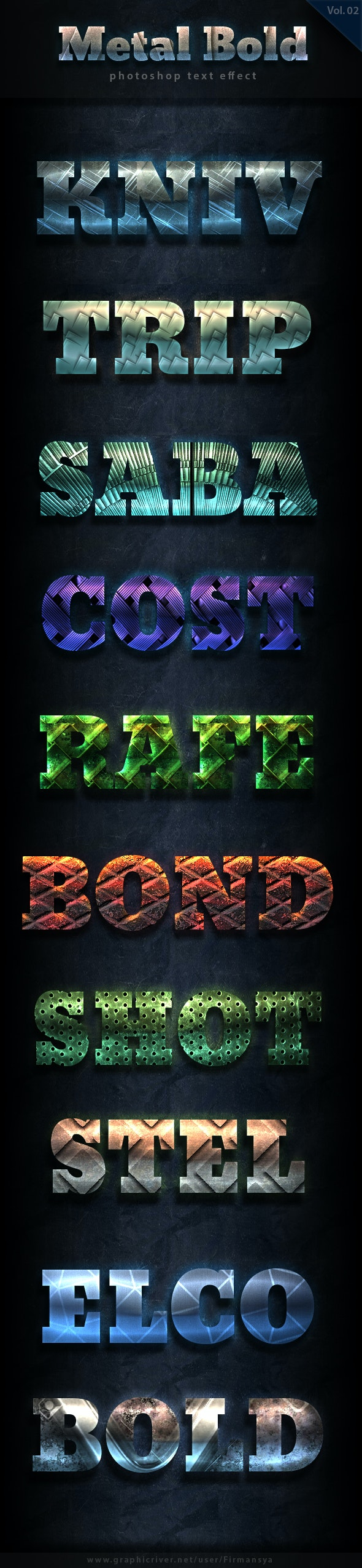 Metal Bold Text Effect Vol 2 - Text Effects Styles