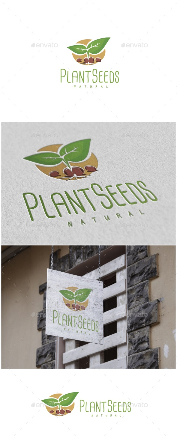 Plant Seeds Logo - Nature Logo Templates