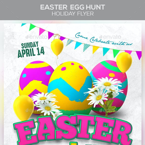 Easter Egg Hunt Holiday Flyer