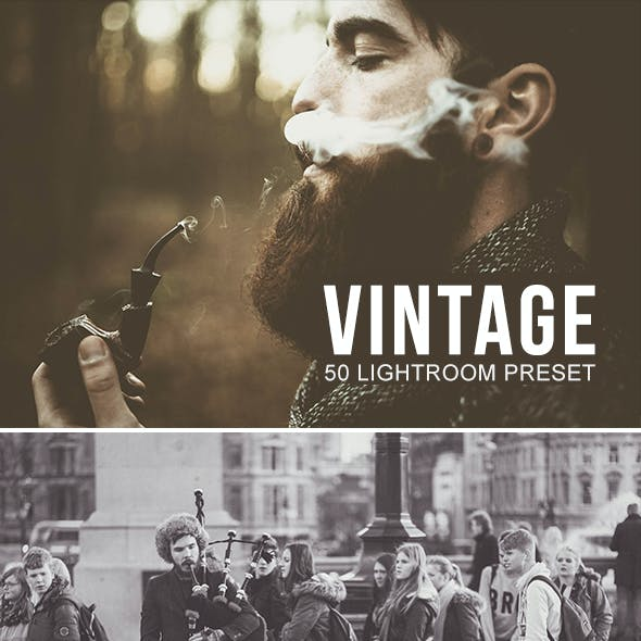 50 Real Vintage Lightroom Preset
