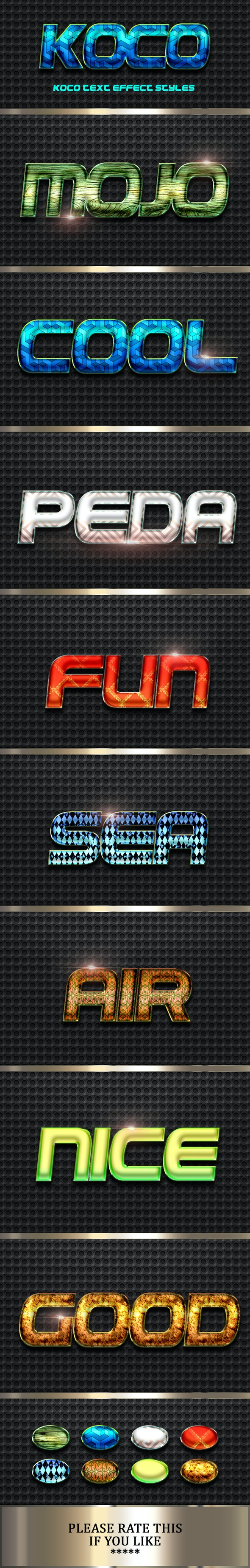 Koco Text Effect Styles - Text Effects Styles
