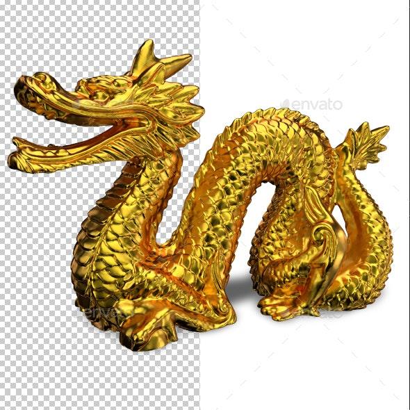 Golden Dragon - Objects 3D Renders