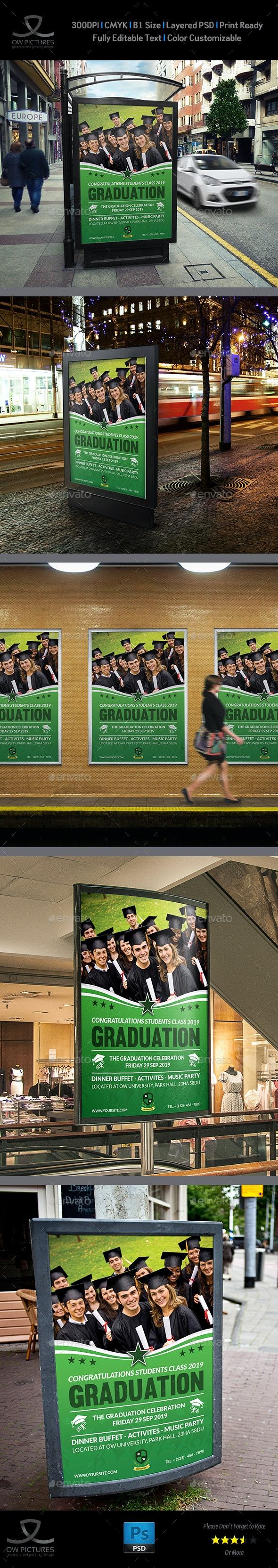 Graduation Poster Template - Signage Print Templates