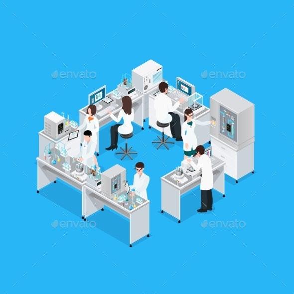 Science Lab Workplace Composition - Miscellaneous Conceptual