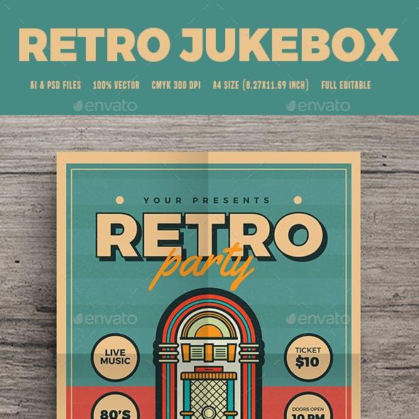 Modern Retro Jukebox Party Flyer